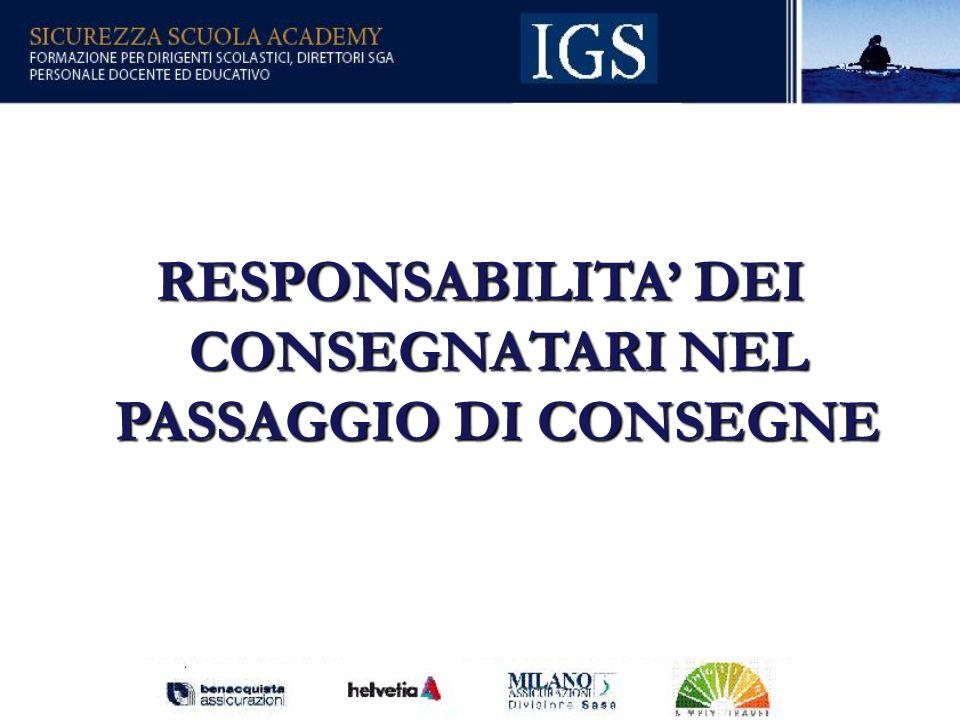 60 RESPONSABILITA DEI CONSEGNATARI NEL PASSAGGIO DI CONSEGNE