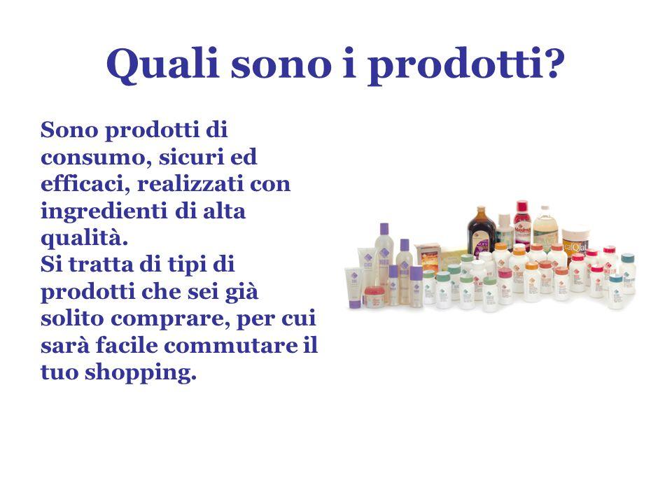 Quali sono i prodotti.