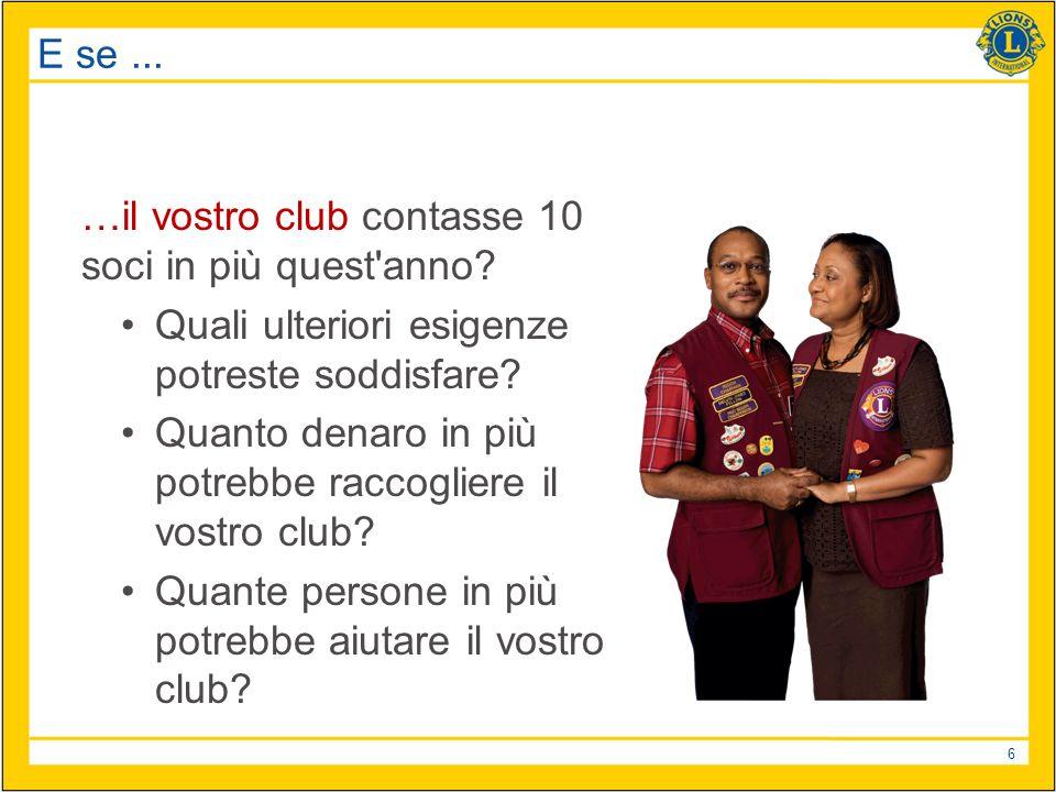 6 E se... …il vostro club contasse 10 soci in più quest anno.