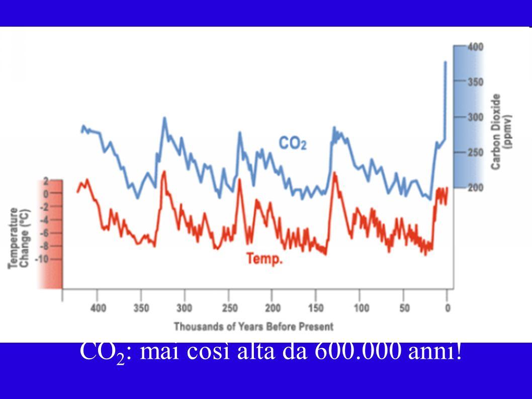 CO 2 : mai così alta da 600.000 anni!