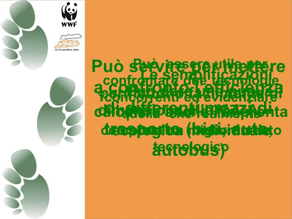 Può essere utilizzato realmente come indicatore della sostenibilità e della salute umana Ottimo strumento di divulgazione per leducazione ai consumi H