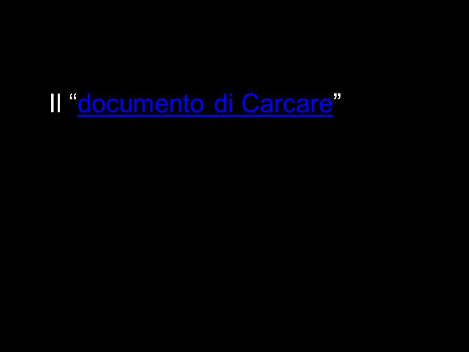 Il documento di Carcaredocumento di Carcare