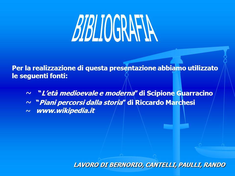 ~Letà medioevale e moderna di Scipione Guarracino ~Piani percorsi dalla storia di Riccardo Marchesi ~ www.wikipedia.it Per la realizzazione di questa