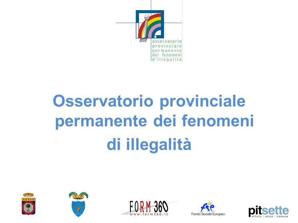Osservatorio provinciale permanente dei fenomeni di illegalità