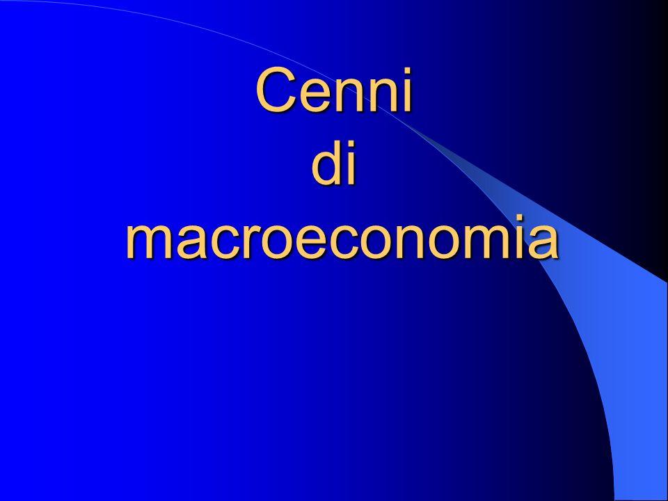 Cenni di macroeconomia
