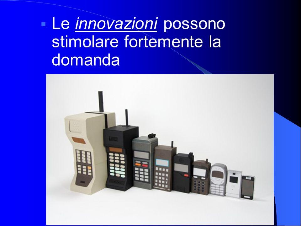 Le innovazioni possono stimolare fortemente la domanda