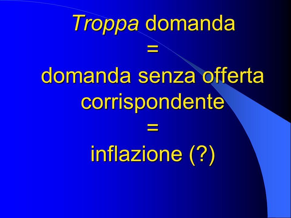 Troppa domanda = domanda senza offerta corrispondente = inflazione (?)