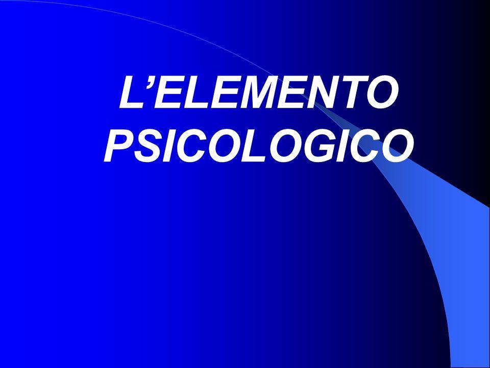LELEMENTO PSICOLOGICO