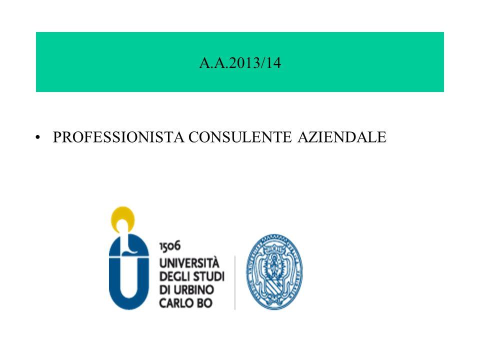 A.A.2013/14 PROFESSIONISTA CONSULENTE AZIENDALE