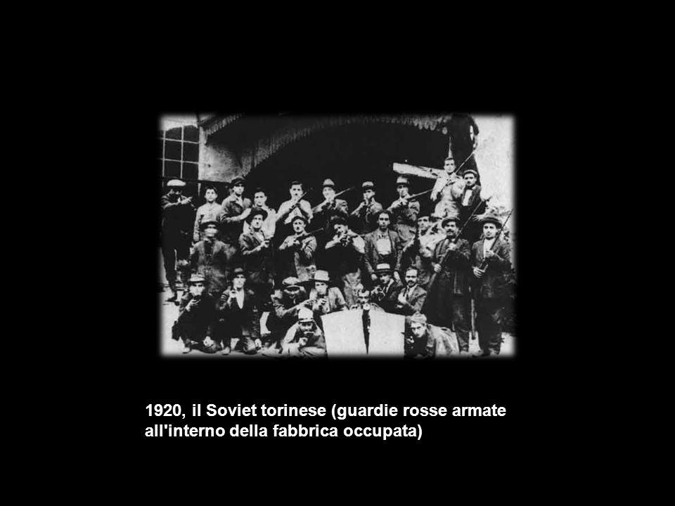 1920, il Soviet torinese (guardie rosse armate all interno della fabbrica occupata)