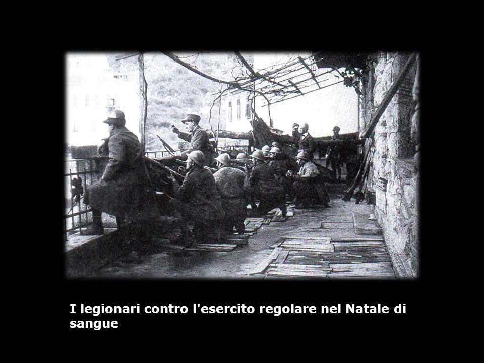I legionari contro l'esercito regolare nel Natale di sangue