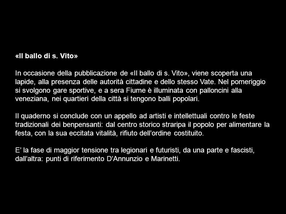 «Il ballo di s.Vito» In occasione della pubblicazione de «Il ballo di s.