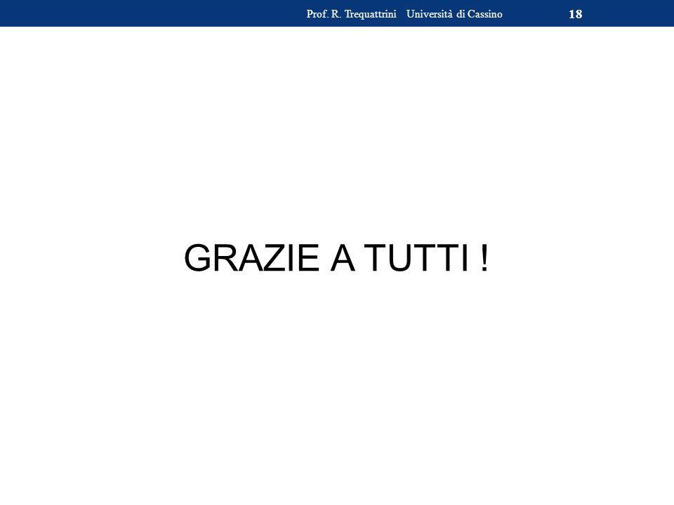 GRAZIE A TUTTI ! Prof. R. Trequattrini Università di Cassino 18