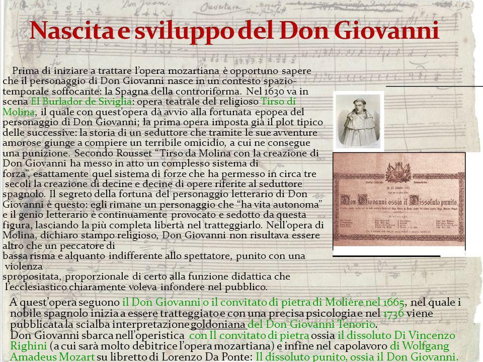 Prima di iniziare a trattare lopera mozartiana è opportuno sapere che il personaggio di Don Giovanni nasce in un contesto spazio- temporale soffocante