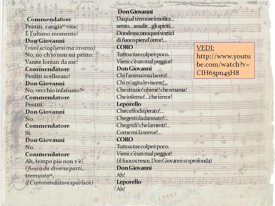 Commendatore Pentiti, cangia 10 vita: È l'ultimo momento! Don Giovanni (vuol sciogliersi ma invano) No, no ch'io non mi pento: Vanne lontan da me! Com
