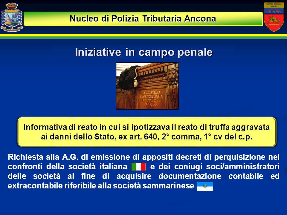 Risultati: sequestro preventivo di beni Nucleo di Polizia Tributaria Ancona LUfficio del Giudice per le Indagini Preliminari presso il Tribunale di Rimini, in data 17 ottobre, ha emesso Decreto di Sequestro Preventivo, ex artt.