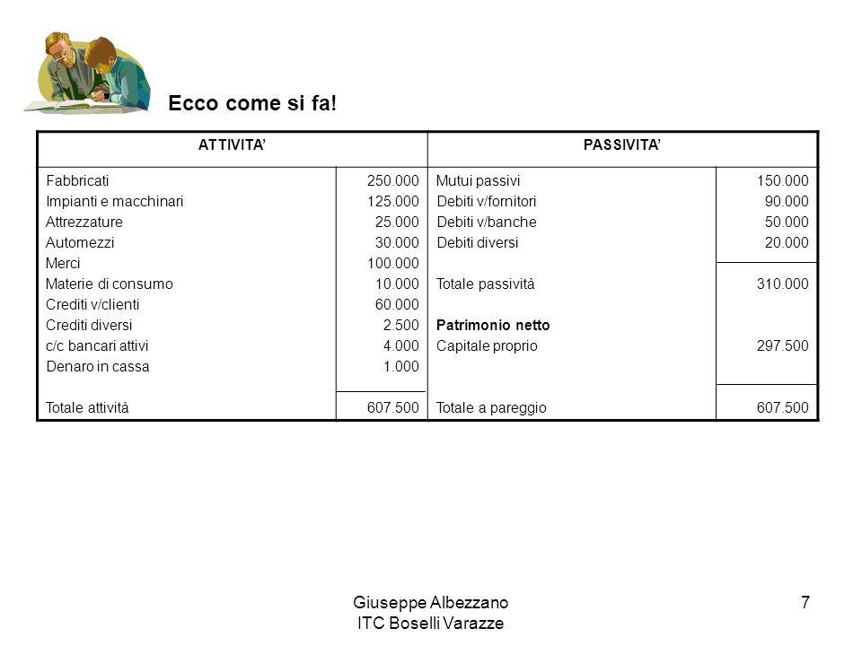 Giuseppe Albezzano ITC Boselli Varazze 7 Ecco come si fa.