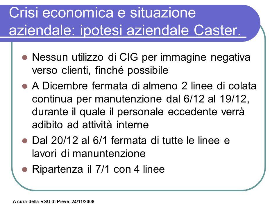 A cura della RSU di Pieve, 24/11/2008 Crisi economica e situazione aziendale: RSU richieste.
