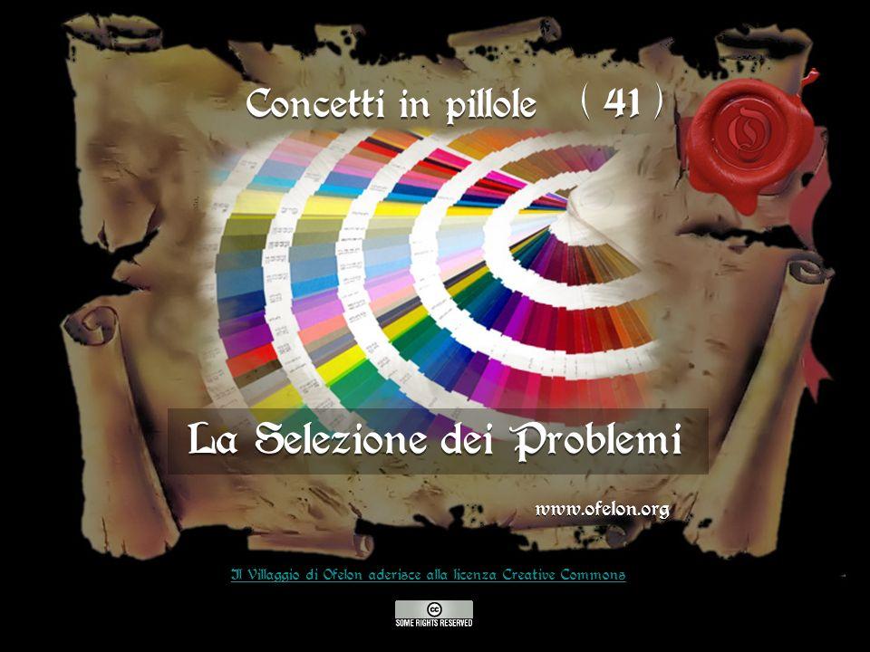 La Selezione dei Problemi www.ofelon.org Il Villaggio di Ofelon aderisce alla licenza Creative Commons Concetti in pillole ( 41 )