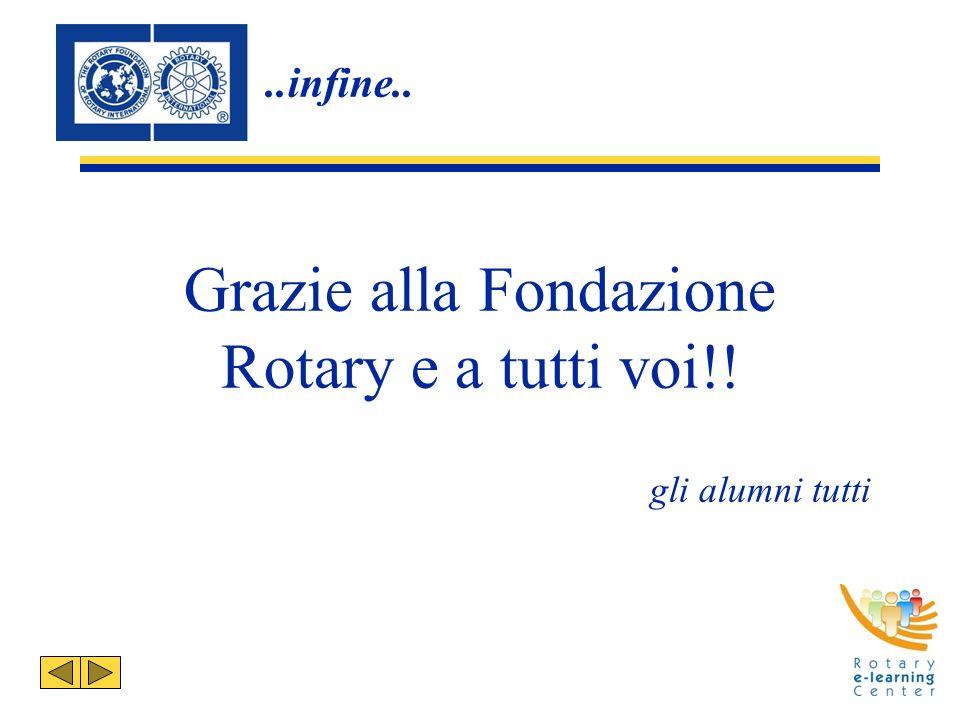 ..infine.. Grazie alla Fondazione Rotary e a tutti voi!! gli alumni tutti