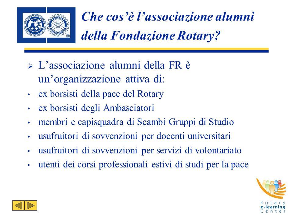 Che cosè lassociazione alumni della Fondazione Rotary.