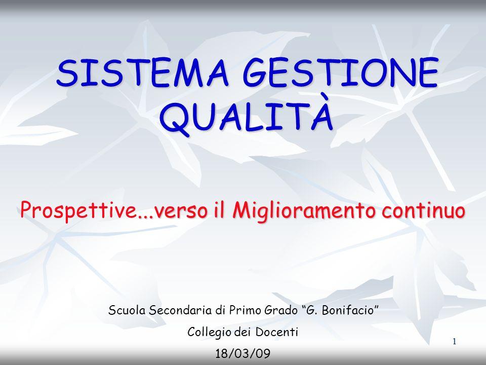 2 Cosè la Qualità La qualità riguarda gli atteggiamenti, la cultura e limpegno allinterno della scuola.