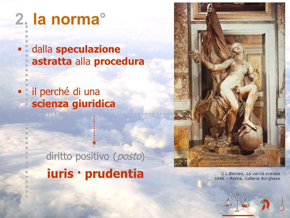 diritto positivo (posto) iuris · prudentia II – la norma* 2. la norma° dalla speculazione astratta alla procedura il perché di una scienza giuridica G