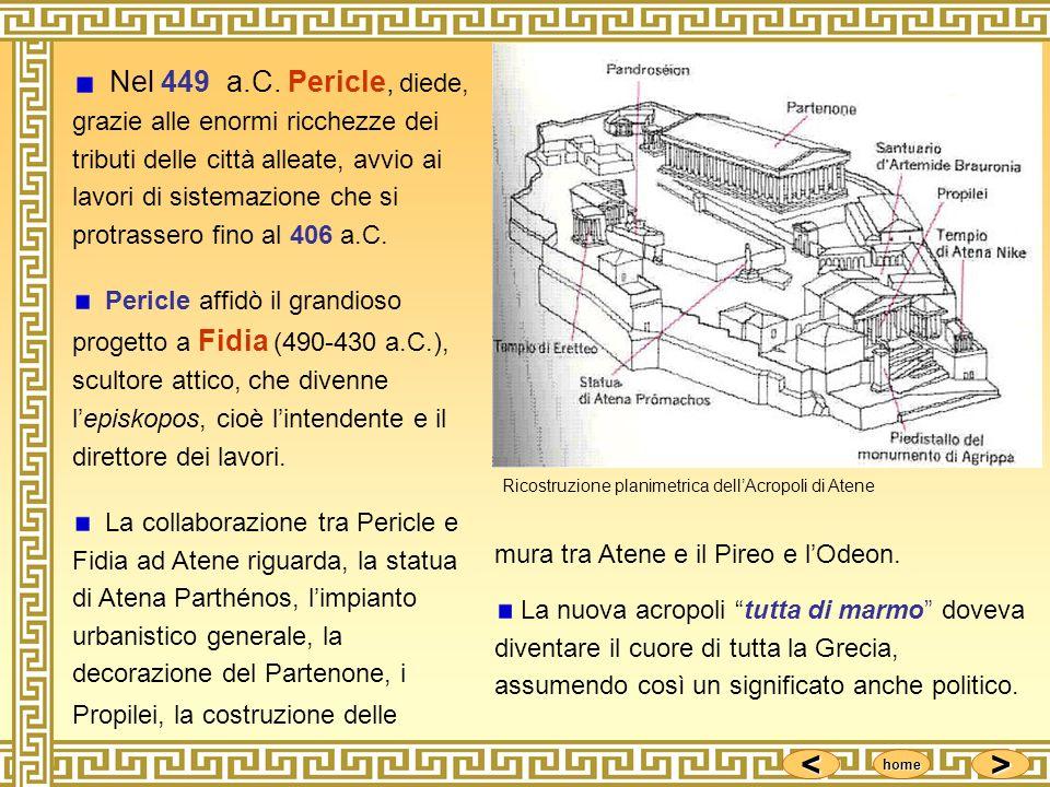 <<<< >>>> home mura tra Atene e il Pireo e lOdeon. La nuova acropoli tutta di marmo doveva diventare il cuore di tutta la Grecia, assumendo così un si