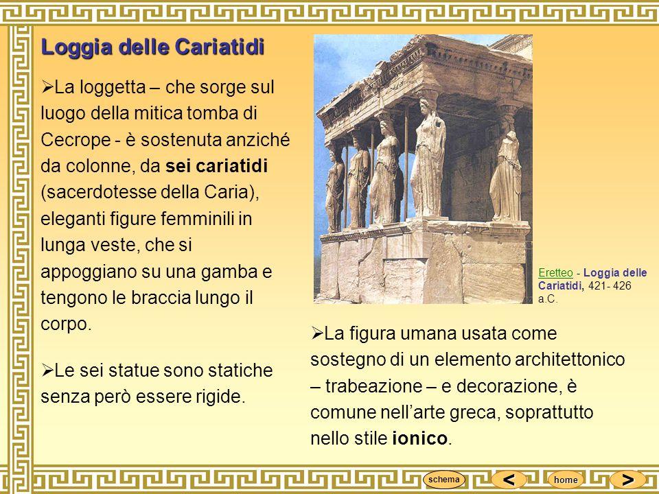 <<<< >>>> home EretteoEretteo - Loggia delle Cariatidi, 421- 426 a.C. La figura umana usata come sostegno di un elemento architettonico – trabeazione
