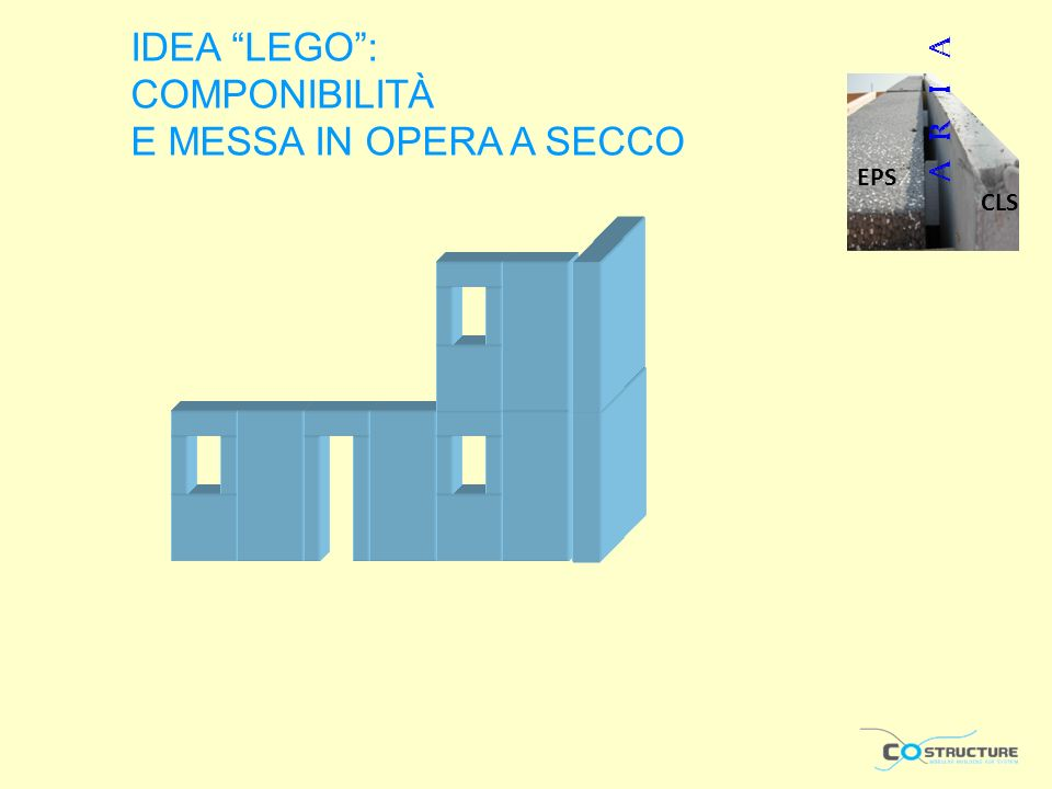 IDEA LEGO: COMPONIBILITÀ E MESSA IN OPERA A SECCO CLS EPS