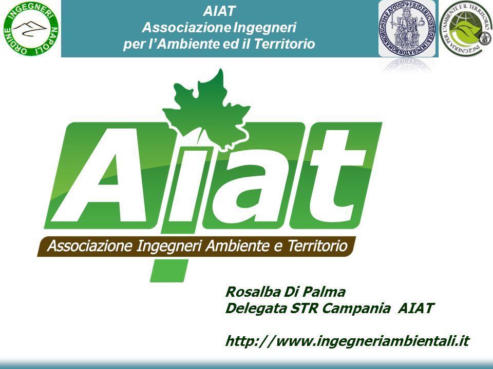 Rosalba Di Palma Delegata STR Campania AIAT http://www.ingegneriambientali.it AIAT Associazione Ingegneri per lAmbiente ed il Territorio