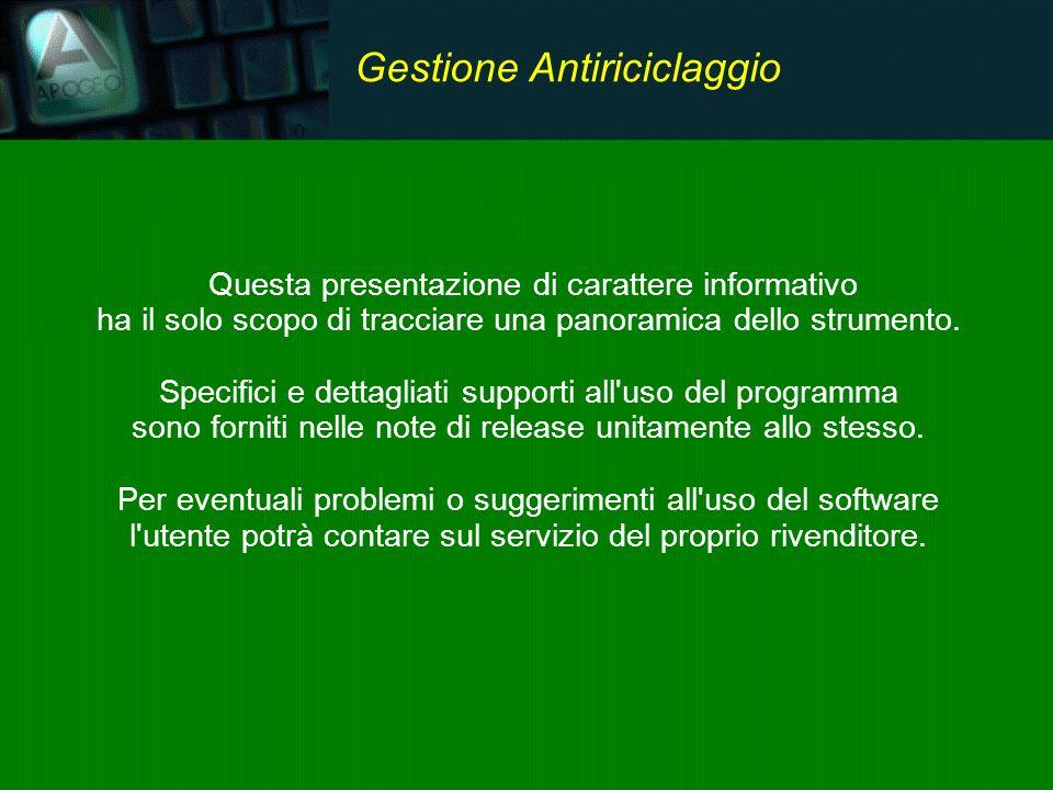 Il software suggerisce un flusso operativo semplice e chiaro.