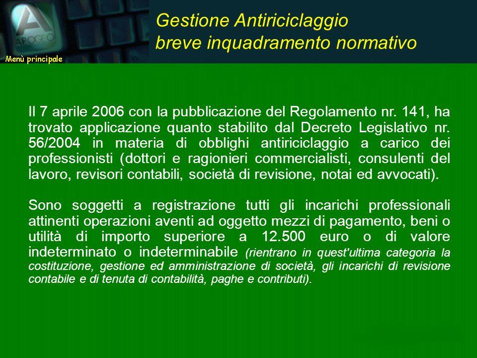 Il 7 aprile 2006 con la pubblicazione del Regolamento nr. 141, ha trovato applicazione quanto stabilito dal Decreto Legislativo nr. 56/2004 in materia