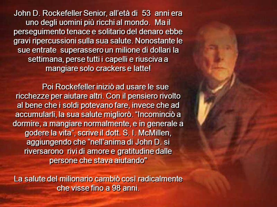 John D.Rockefeller Senior, alletà di 53 anni era uno degli uomini più ricchi al mondo.