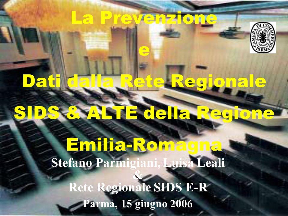 La Prevenzione e Dati dalla Rete Regionale SIDS & ALTE della Regione Emilia-Romagna Stefano Parmigiani, Luisa Leali & Rete Regionale SIDS E-R Parma, 1