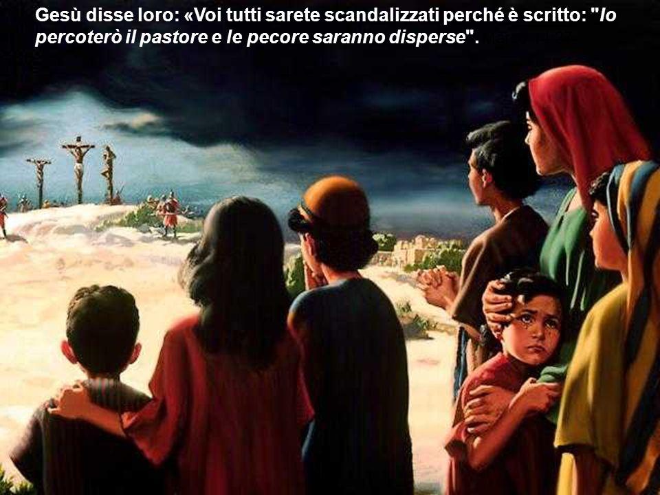 Gesù disse loro: «Voi tutti sarete scandalizzati perché è scritto:
