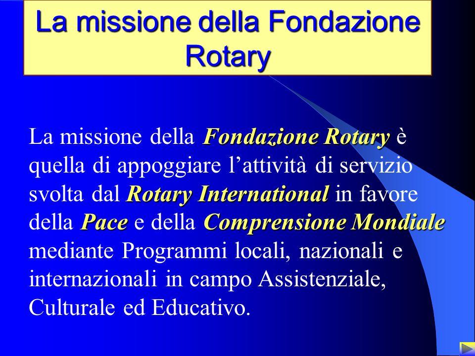 2 La missione della Fondazione Rotary Fondazione Rotary Rotary International PaceComprensione Mondiale La missione della Fondazione Rotary è quella di