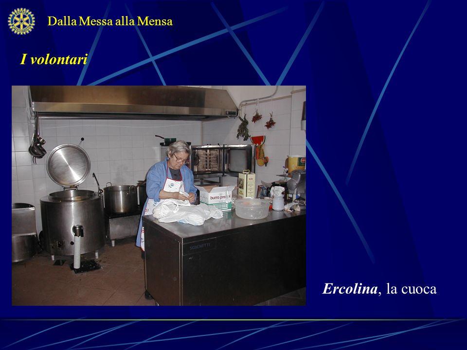 I volontari Dalla Messa alla Mensa Giovanna e Antonia