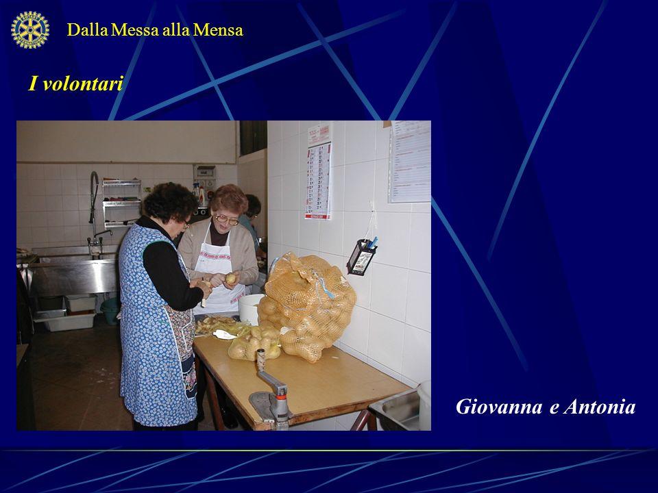 I volontari Dalla Messa alla Mensa Mario e Aurelio