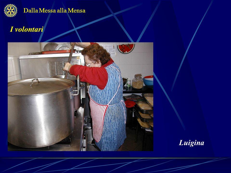 I volontari Dalla Messa alla Mensa Luigina