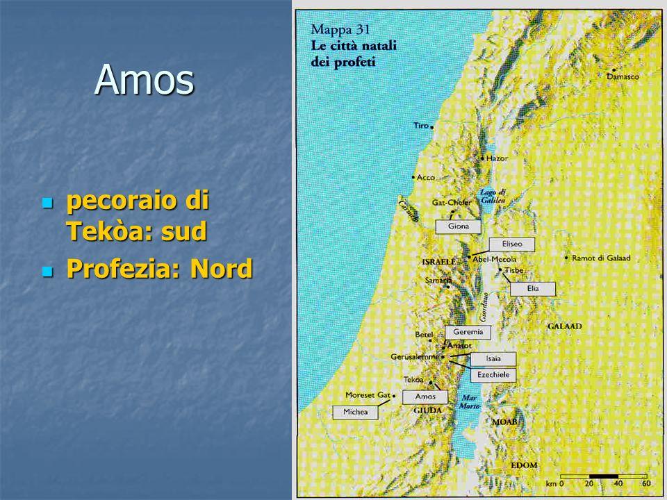 Amos pecoraio di Tekòa: sud pecoraio di Tekòa: sud Profezia: Nord Profezia: Nord