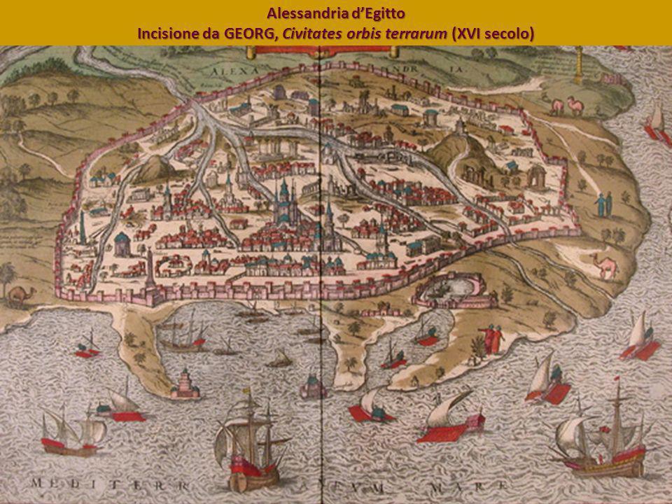 Alessandria dEgitto Incisione da GEORG, Civitates orbis terrarum (XVI secolo)