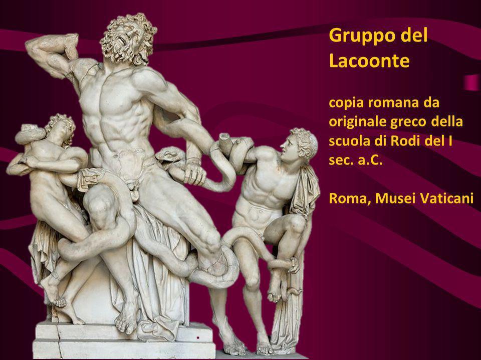 Gruppo del Lacoonte copia romana da originale greco della scuola di Rodi del I sec.