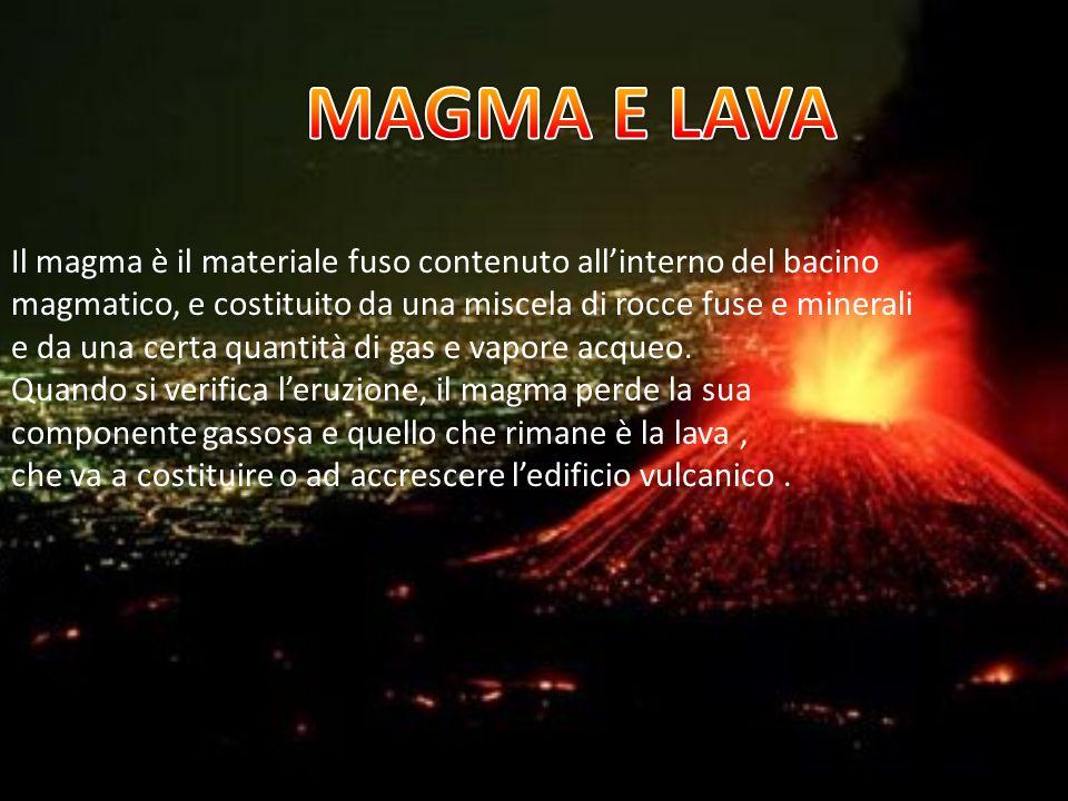 Il tipo di attività del vulcano dipende dalla natura del magma contenuto nella camera magmatica : se il magma è molto fluido, può risalire con facilità lungo il condotto sotto la spinta dei gas,che si liberano facilmente.
