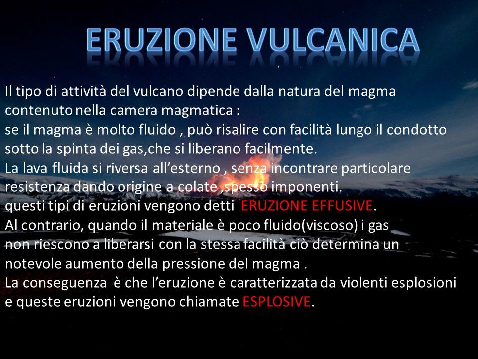 attività di un vulcano può protrarsi anche milioni di anni.