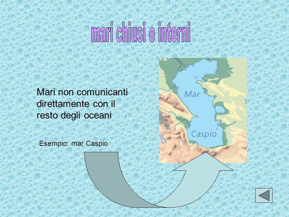 Mari delimitati da un lato dalle coste continentali, dallaltro da isole. Esempio: mar del Giappone