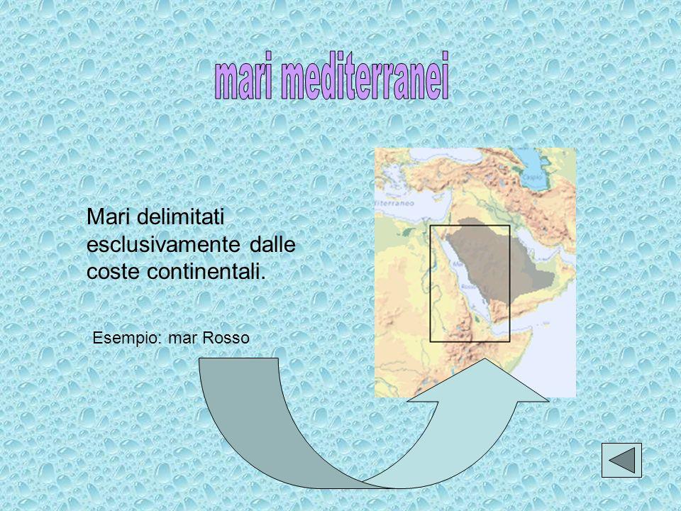 Mari delimitati esclusivamente da isole. Esempio: mare di Irlanda