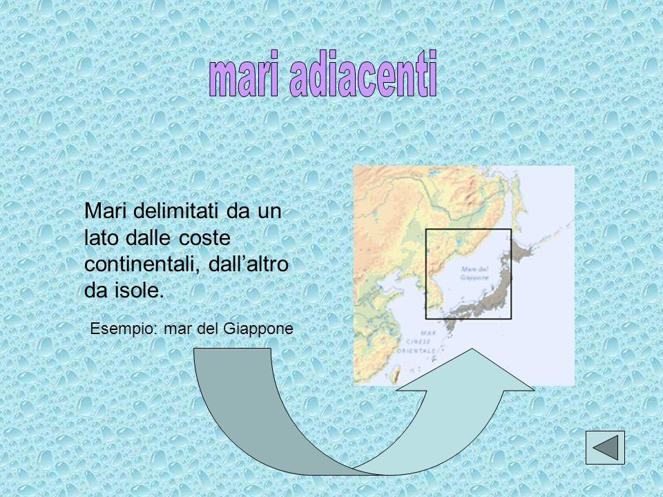 Mari delimitati esclusivamente dalle coste continentali. Esempio: mar Rosso