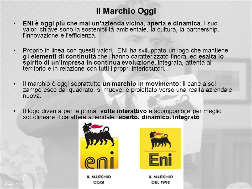 Il Marchio Oggi ENI è oggi più che mai un azienda vicina, aperta e dinamica.