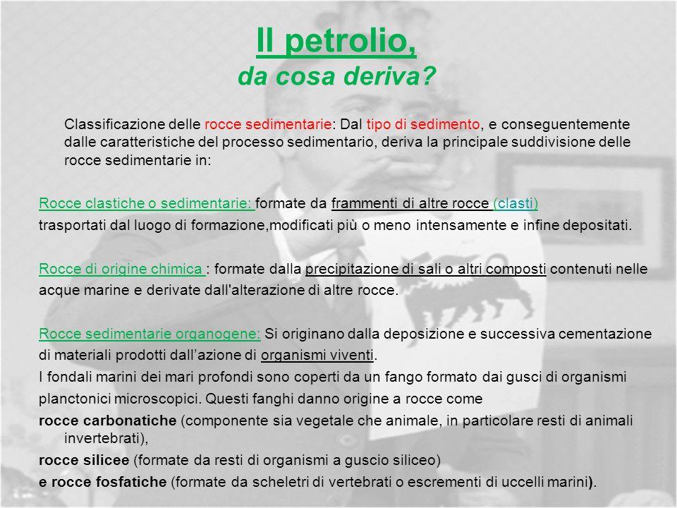 Il petrolio, da cosa deriva.